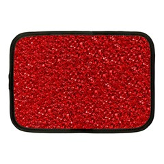 Sparkling Glitter Red Netbook Case (medium)  by ImpressiveMoments