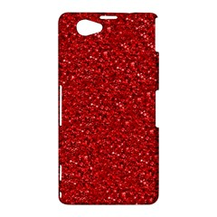 Sparkling Glitter Red Sony Xperia Z1 Compact by ImpressiveMoments