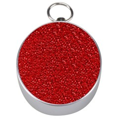 Sparkling Glitter Red Silver Compasses by ImpressiveMoments
