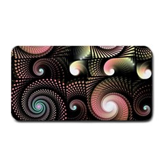 Peach Swirls on Black Medium Bar Mats by KirstenStar