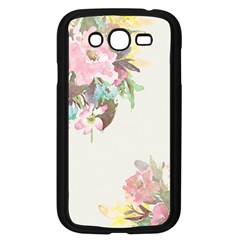 Vintage Watercolor Floral Samsung Galaxy Grand Duos I9082 Case (black) by PipPipHooray