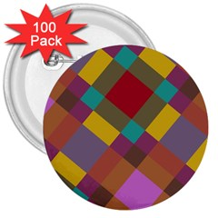 Shapes Pattern 3  Button (100 Pack) by LalyLauraFLM