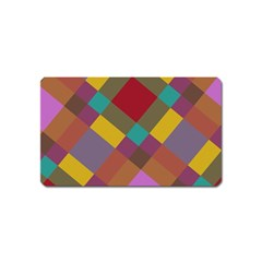 Shapes Pattern Magnet (name Card) by LalyLauraFLM