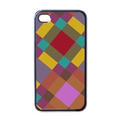 Shapes Pattern Apple Iphone 4 Case (black) by LalyLauraFLM