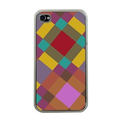 Shapes Pattern Apple Iphone 4 Case (clear) by LalyLauraFLM