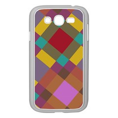 Shapes Pattern Samsung Galaxy Grand Duos I9082 Case (white) by LalyLauraFLM