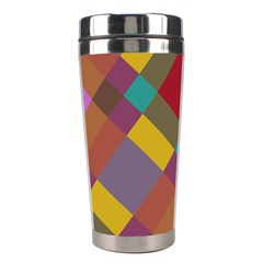 Shapes Pattern Stainless Steel Travel Tumbler by LalyLauraFLM