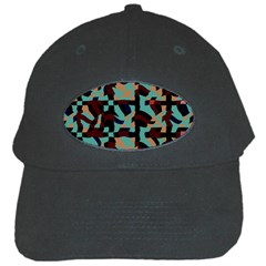 Distorted Shapes In Retro Colors Black Cap by LalyLauraFLM