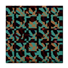 Distorted Shapes In Retro Colors Tile Coaster by LalyLauraFLM