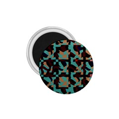 Distorted Shapes In Retro Colors 1 75  Magnet by LalyLauraFLM