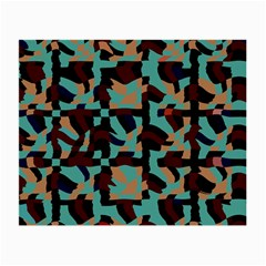 Distorted Shapes In Retro Colors Small Glasses Cloth by LalyLauraFLM