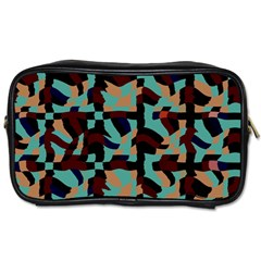 Distorted Shapes In Retro Colors Toiletries Bag (two Sides) by LalyLauraFLM