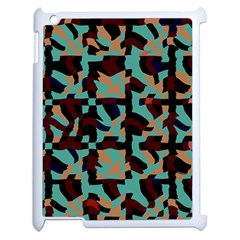 Distorted Shapes In Retro Colors Apple Ipad 2 Case (white) by LalyLauraFLM