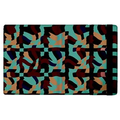 Distorted Shapes In Retro Colors Apple Ipad 3/4 Flip Case by LalyLauraFLM