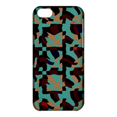 Distorted Shapes In Retro Colors Apple Iphone 5c Hardshell Case by LalyLauraFLM
