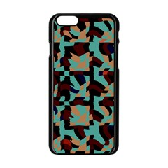 Distorted Shapes In Retro Colors Apple Iphone 6 Black Enamel Case by LalyLauraFLM