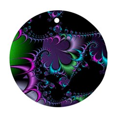 Fractal Dream Round Ornament (Two Sides)  by ImpressiveMoments