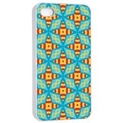 Cute Pretty Elegant Pattern Apple Iphone 4/4s Seamless Case (white) by creativemom