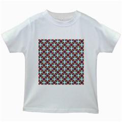 Cute Pretty Elegant Pattern Kids White T Shirts by creativemom