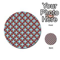 Cute Pretty Elegant Pattern Multi Purpose Cards (round)