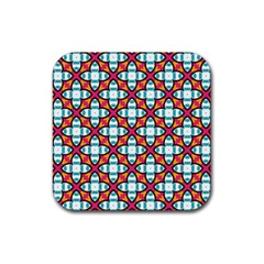 Pattern 1284 Rubber Square Coaster (4 Pack)  by creativemom