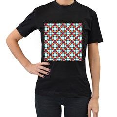 Pattern 1284 Women s T Shirt (black) (two Sided) by creativemom
