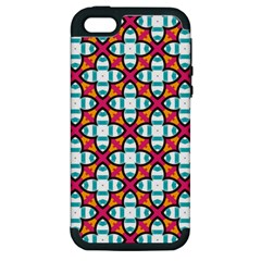 Pattern 1284 Apple Iphone 5 Hardshell Case (pc+silicone) by creativemom