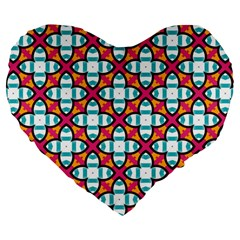Pattern 1284 Large 19  Premium Flano Heart Shape Cushions by creativemom