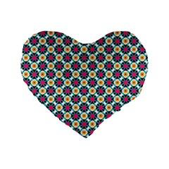 Pattern 1282 Standard 16  Premium Flano Heart Shape Cushions by creativemom