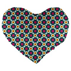 Pattern 1282 Large 19  Premium Flano Heart Shape Cushions by creativemom