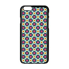 Pattern 1282 Apple Iphone 6 Black Enamel Case by creativemom