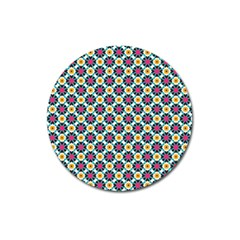 Cute Abstract Pattern Background Magnet 3  (round) by creativemom