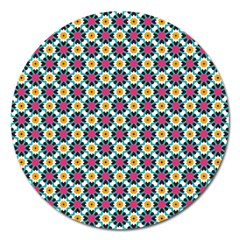 Cute Abstract Pattern Background Magnet 5  (round) by creativemom