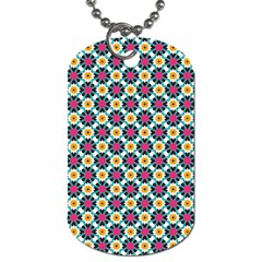 Cute Abstract Pattern Background Dog Tag (one Side) by creativemom