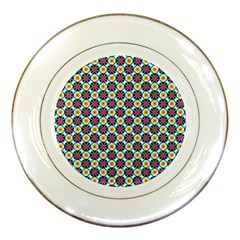 Cute Abstract Pattern Background Porcelain Plates by creativemom