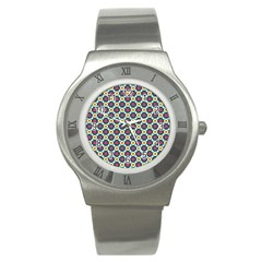 Cute Abstract Pattern Background Stainless Steel Watches by creativemom