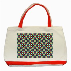 Cute Abstract Pattern Background Classic Tote Bag (red)  by creativemom