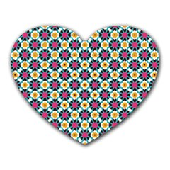 Cute Abstract Pattern Background Heart Mousepads by creativemom