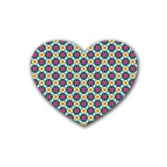 Cute Abstract Pattern Background Heart Coaster (4 Pack)  by creativemom