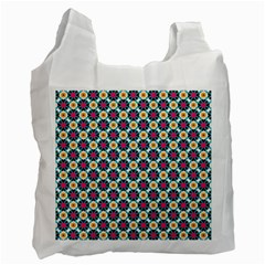 Cute Abstract Pattern Background Recycle Bag (two Side)  by creativemom