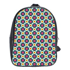 Cute Abstract Pattern Background School Bags(large)  by creativemom