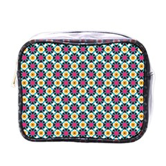 Cute Abstract Pattern Background Mini Toiletries Bags by creativemom