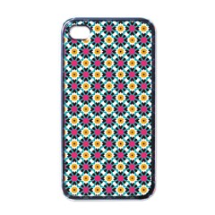 Cute Abstract Pattern Background Apple Iphone 4 Case (black) by creativemom