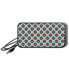 Cute Abstract Pattern Background Portable Speaker (black)  by creativemom