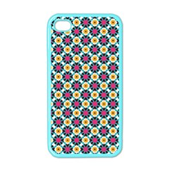 Cute Abstract Pattern Background Apple Iphone 4 Case (color) by creativemom