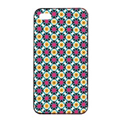 Cute Abstract Pattern Background Apple Iphone 4/4s Seamless Case (black) by creativemom