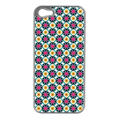 Cute Abstract Pattern Background Apple Iphone 5 Case (silver) by creativemom