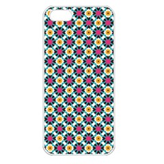 Cute Abstract Pattern Background Apple Iphone 5 Seamless Case (white) by creativemom