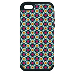 Cute Abstract Pattern Background Apple Iphone 5 Hardshell Case (pc+silicone) by creativemom