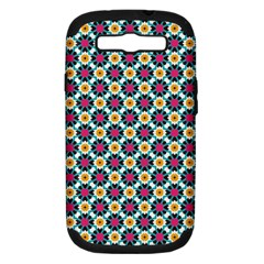 Cute Abstract Pattern Background Samsung Galaxy S Iii Hardshell Case (pc+silicone) by creativemom